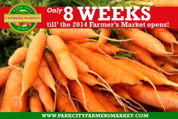 8 Weeks till the Farmers Market opens!